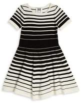 Milly Minis Girl's Degrade Stripe Flare Dress
