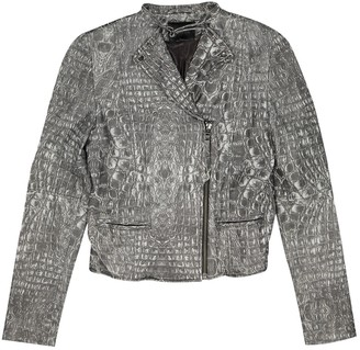 Gestuz Grey Leather Leather Jacket for Women