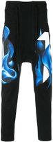 11 By Boris Bidjan Saberi track pants with smoke print
