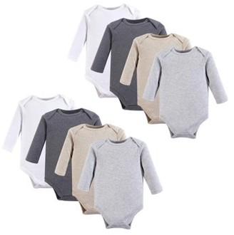 Hudson Baby Girl or Boy Long-Sleeve Bodysuits 8-pack