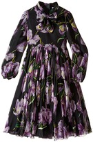 Dolce & Gabbana City Tulip Chiffon Dress (Big Kids)