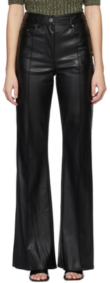 Stand Studio Black Faux-Leather Reese Trousers