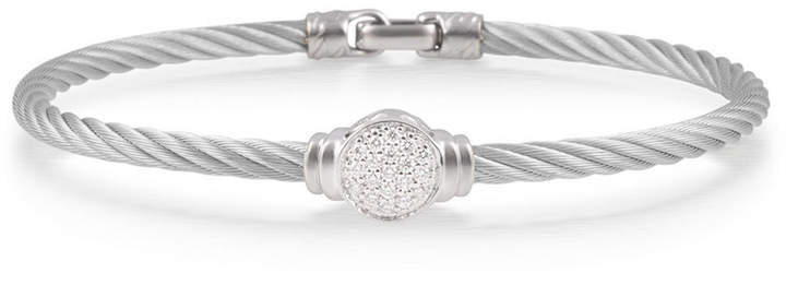 Alor Pave Round Diamond Cable Bracelet, Gray