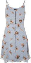 Topshop TALL Ditsy Print Mini Slip Dress