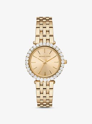 Michael Kors Darci Pave Gold-Tone Watch - Gold