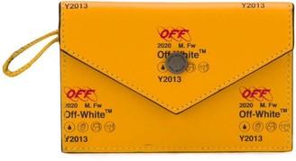 Off-White Leather Snap Pocket Cardholder