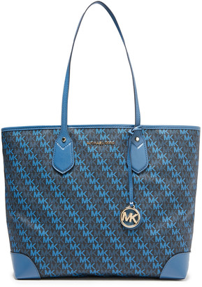 MICHAEL Michael Kors Eva Monogram-print Faux Textured-leather Tote