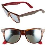 Ray-Ban Men's 'Wayfarer' 54Mm Sunglasses - Striped Havana/ Green Mirror