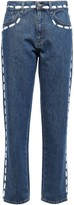 Moschino Cropped Printed High-rise Boyfriend Jeans