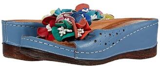 Spring Step Flowerchild (Blue) Women's Shoes