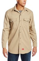 Dickies Men's Flame Resistant Long Sleeve Twill Snap Front Shirt