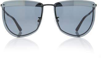 Cat Eye Mcq Sunglasses Rounded Metal Cat-Eye Sunglasses
