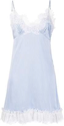 Ermanno Scervino Striped Lace-Detail Dress