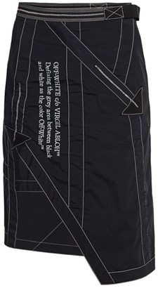 Off-White Asymmetric Nylon Parachute Skirt