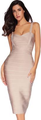 meilun Women's Sleeveless Rayon Bandage Bodycon Strap Dress (Large