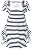 Sacai striped side zip dress