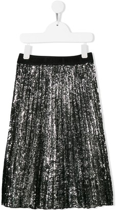 Msgm Kids Embellished Pleated Skirt