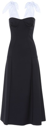 Gabriela Hearst Seraphine wool-crepe dress