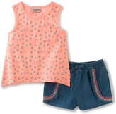 Juicy Couture Coral Heart Tank & Denim Shorts - Toddler & Girls