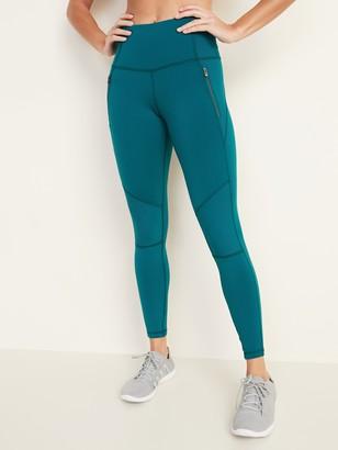 Old Navy High-Waisted Zip-Pocket Side-Rib Elevate 7/8-Length Leggings for Women