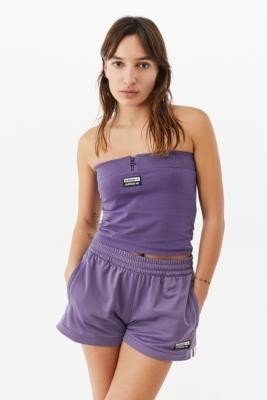 adidas Zip Tube Top - Purple UK 6 at Urban Outfitters