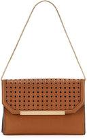 French Connection Karen Basketweave-Flap Clutch Bag, Nutmeg
