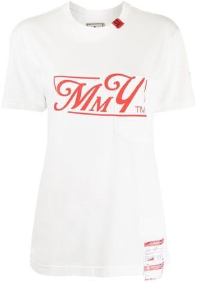 Maison Mihara Yasuhiro oversized logo print T-shirt