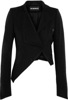 Ann Demeulemeester Asymmetric Wool And Cotton-blend Jacket - Black