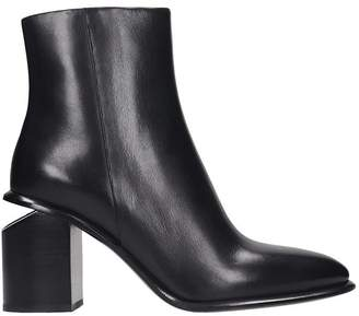 Alexander Wang Anna High Heels Ankle Boots In Black Leather