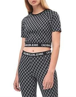 Calvin Klein Aop Milano Ss Top