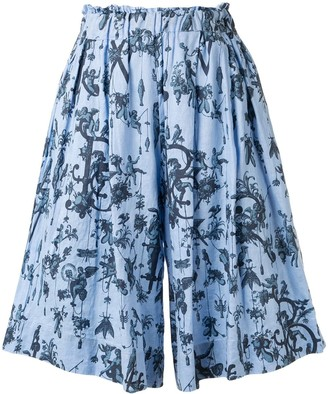 Romance Was Born Blue Belle culotte shorts