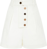 Tibi White High Rise Shorts