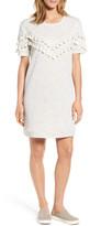 Caslon Tassel Trim Fleece Knit Dress