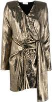 Nervi metallized wrap dress