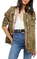 Free People Women's Double Cloth Military Jacket