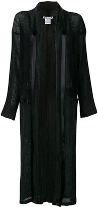 Issey Miyake Pre-Owned long pleated open front jacket