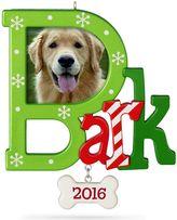 "Hallmark Dog ""Bark"" Photo Holder 2016 Keepsake Christmas Ornament"