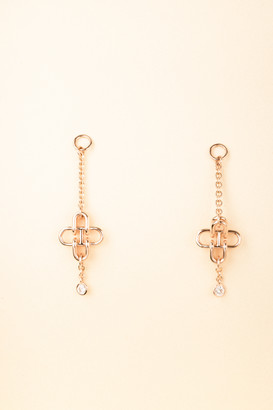 Hermes Chaine DAncre Single Diamond Drop Earrings