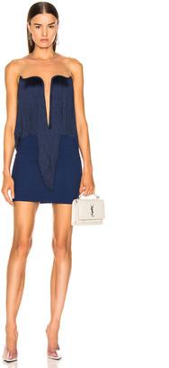 Stella McCartney Fringe Dress in Blue Note   FWRD
