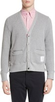 Thom Browne Men's Button Side V-Neck Cardigan