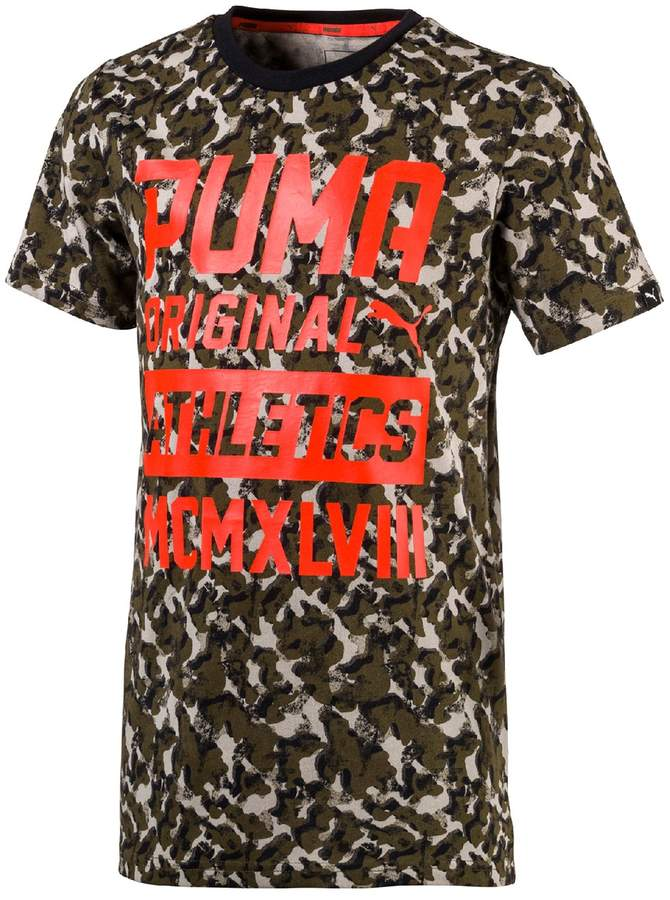 Puma Style Graphic AOP T-Shirt, 4-16 Years