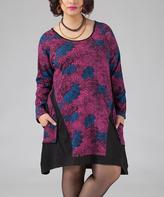 Aller Simplement Purple Paisley Handkerchief Dress - Plus