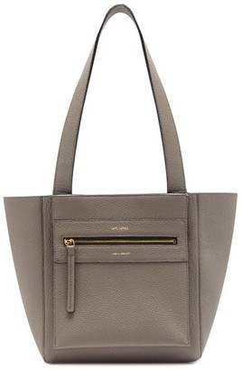 Lutz Morris Savoy Small Leather Tote Bag - Grey
