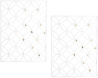 Pottery Barn Teen Floral Wire Photo Grid, White, Set of 2
