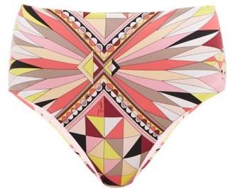 Emilio Pucci Bes-print High-rise Bikini Briefs - Pink Print