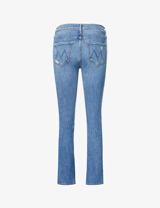 Mother The Dazzler straight-leg mid-rise stretch-denim jeans