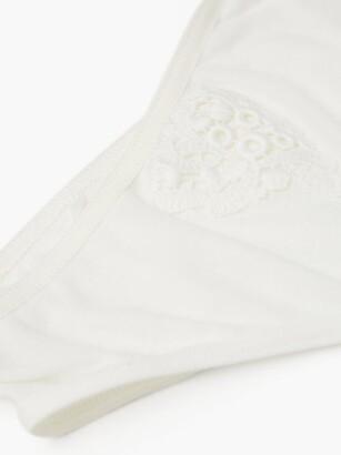 Hanro Cora Floral-embroidered Cotton-jersey Mini Briefs - White