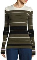 Opening Ceremony Striped Rib-Knit Sweater