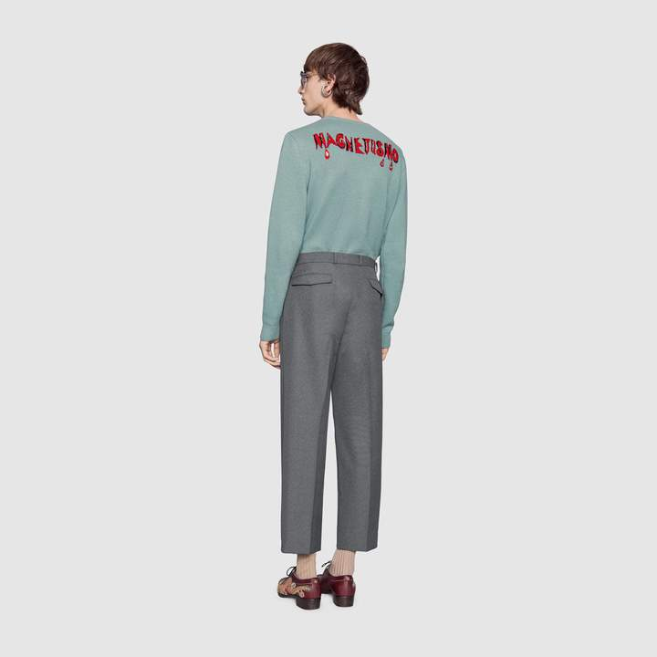 Gucci Snow White wool knit sweater