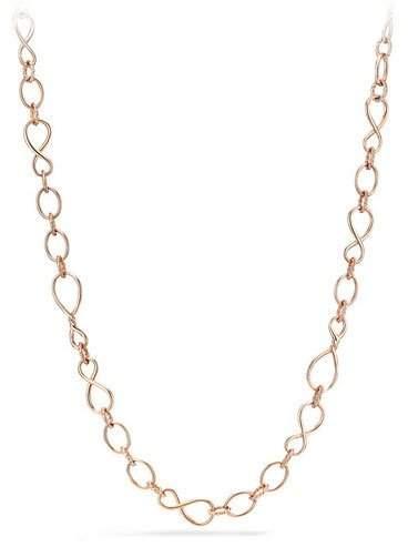 "David Yurman Continuance Medium 18K Rose Gold Chain Necklace, 33"""